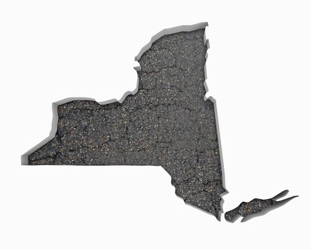 New York NY Road Map Pavement Construction Infrastructure 3d Illustration Stock Photo