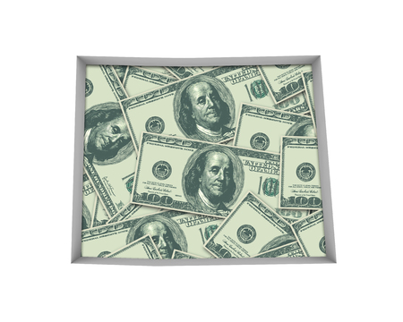 Colorado CO Money Map Cash Economy Dollars 3d Illustration Stock Photo