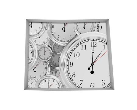 Colorado CO Clock Time Passing Forward Future 3d Illustration 写真素材