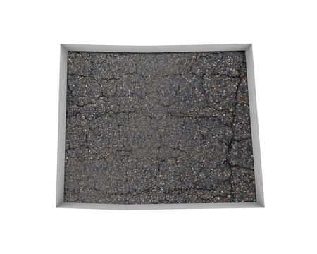 Colorado CO Road Map Pavement Construction Infrastructure 3d Illustration Stock Photo
