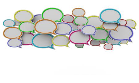 Speech Bubbles Clouds Communication Background 3d Illustration
