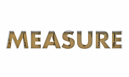 Measure Ruler Word Metrics Measurement 3d Illustration Stock Photo