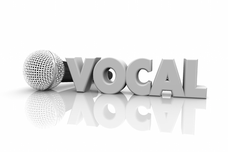 Vocal Microphone Speak Sing Perform Word 3d Illustration