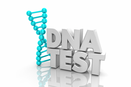 DNA Test Heredity Ancestry Genetic Word 3d Illustration