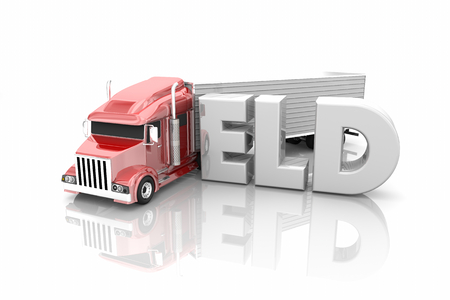 ELD Electronic Logging Devices Truck Driving Word 3d Illustration