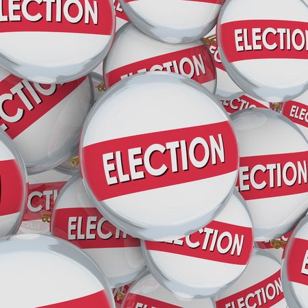 Election Buttons Pins Vote Democracy 3d Illustration