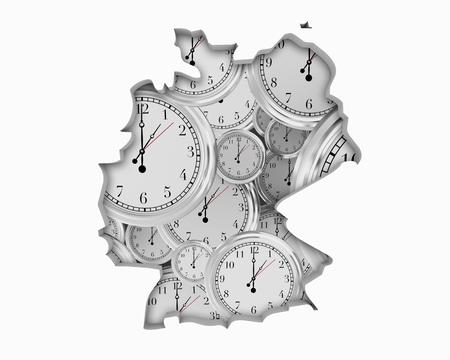 Germany DE Clock Time Passing Forward Future 3d Illustration