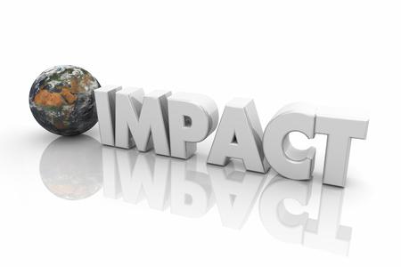 Impact Global Reach Problem Environmental Word 3d Illustration
