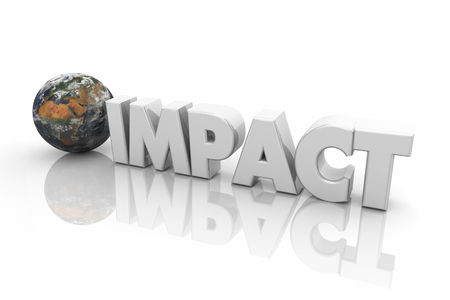 Impact Global Reach Problem Environmental Word 3d Illustration