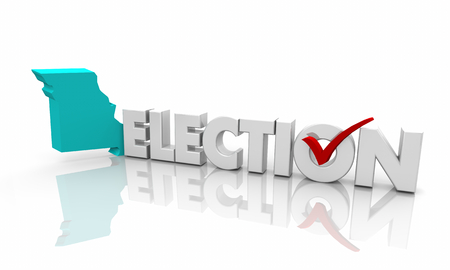Missouri MO Election Voting State Map Word 3d Illustration Stock Photo