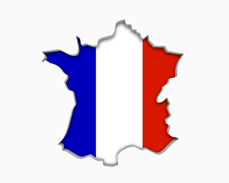 France FR Flag Map Symbol National Pride 3d Illustration 写真素材