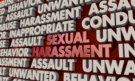 Sexual Harassment Bad Conduct Abuse Assault Words 3d Illustration
