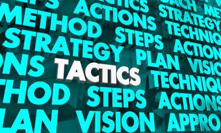 Tactics Strategy Plan Vision Words 3d Illustration