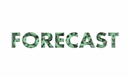 Forecast Numbers Future Figures Word 3d Illustration