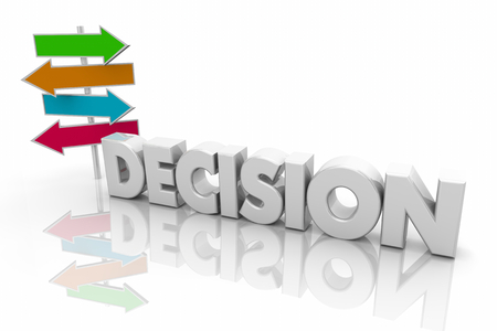 Decision Choices Many Several Arrow Signs Word 3d Illustration