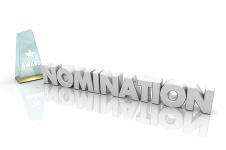 Award Nomination Finalist Winner Choose Best Candidates 3d Illustration Standard-Bild - 100764526