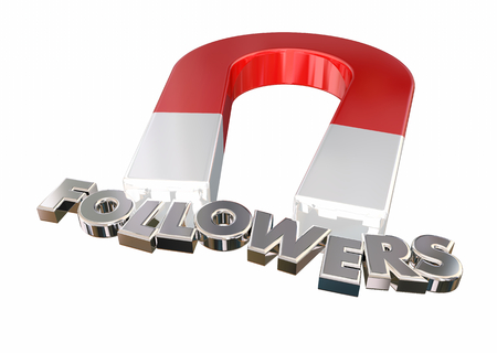 Followers Attract Larger Audience Magnet Letters 3d Render Illustration Stock Photo