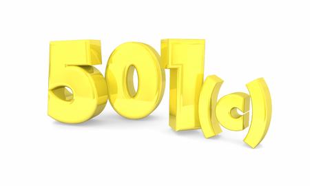501c Charity Non-Profit Group Tax Status 3d Render Illustration