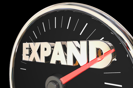 Expand Increase Speedometer Measure Growth 3d Render Illustration