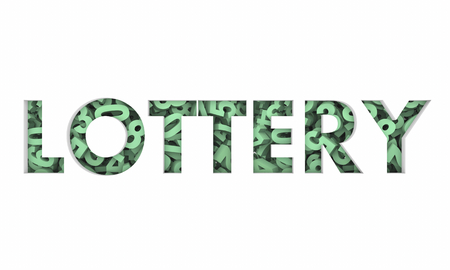 Lottery Winning Numbers Big Jackpot Word 3d Render Illustration