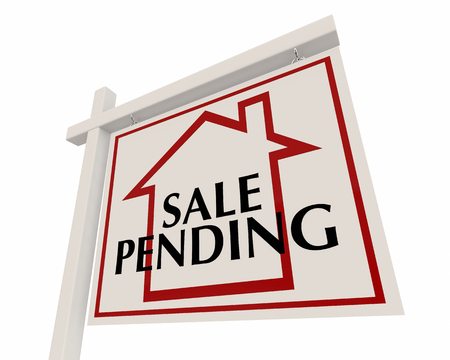 Sale Pending Home for Sale Real Estate Sign Words 3d Render Illustration