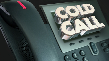 Cold Call Telephone Sales Selling Phone 3d Render Illustration