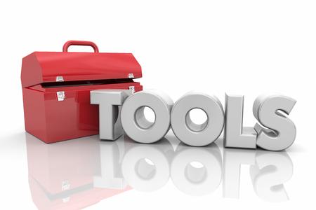 Tools Toolbox Resources Do Work Fix Word 3d Illustration 版權商用圖片