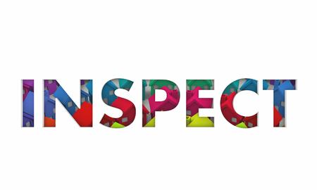 Inspect Word Houses Homes Background Inspector 3d Render Illustration