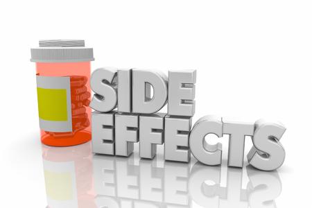 Side Effects Drug Medication Complications Pills Words 3d Render Illustration Stock Photo