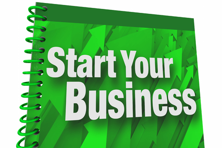 Start Your Business Book Instruction Manual New Company Entrepreneur 3d Illustration