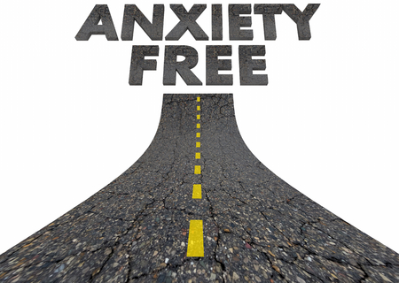 Anxiety Free Road to Clear Mind Avoiding Stress 3d Illustration