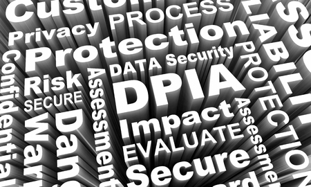 DPIA Data Protection Privacy Impact Assessment Words 3d Render Illustration