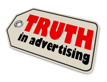 Truth in Advertising Price Tag Honest Business 3d Render Illustration