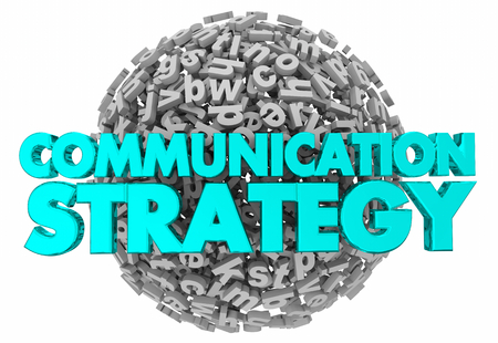 Communication Strategy Plan Share Information 3d Render Illustration Stok Fotoğraf - 102423992
