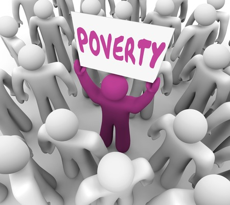 Poverty Poor Man Holding Sign Homeless Charity 3d Render Illustration Imagens - 102424005