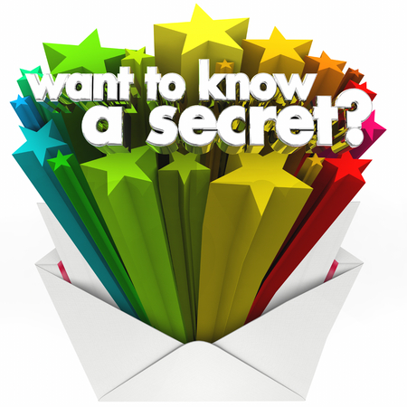 Want to Know a Secret Question Envelope Rumor Words 3d Render Illustration