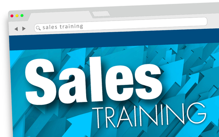 Sales Training Online Learning Course Class Website 3d Illustration