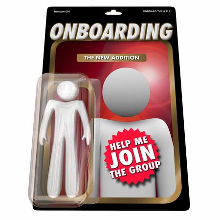 Onboarding New Employee Team Member Action Figure 3d Render Illustration Stock Photo