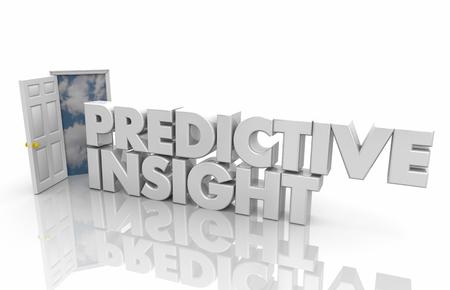 Predicitve Insight Open Door Intelligence Information Words 3d Render Illustration Stock Photo