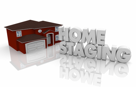 Home Staging House for Sale Open House Service 3d Render Illustration
