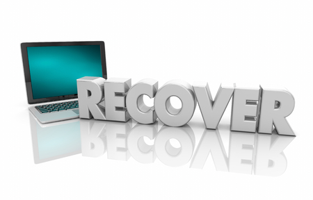 Recover Data Laptop Computer Service Save Information 3d Render Illustration