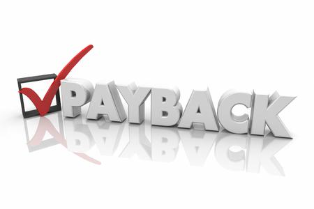 Payback Revenge Getting Even Justice Check Mark Box 3d Illustration