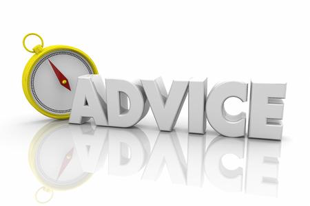 Advice Compass Guidance Information Direction 3d Render Illustration Stok Fotoğraf