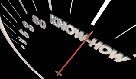 Know-How Skills Experience Knowledge Speedometer 3d Illustration