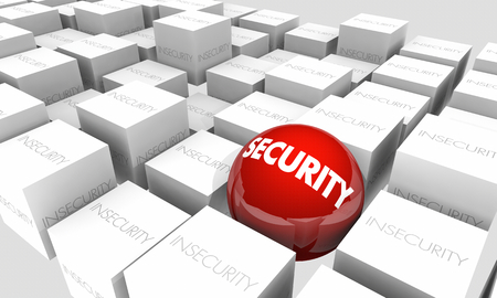 Security Vs Insecurity Safe Secure 3d Illustration