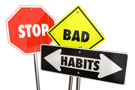 Stop Bad Habits End Break Addiction 3d Illustration