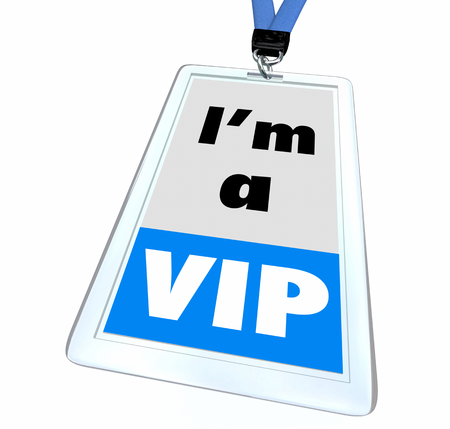 VIP Very Important Person Exclusive Executive Badge 3d Illustration