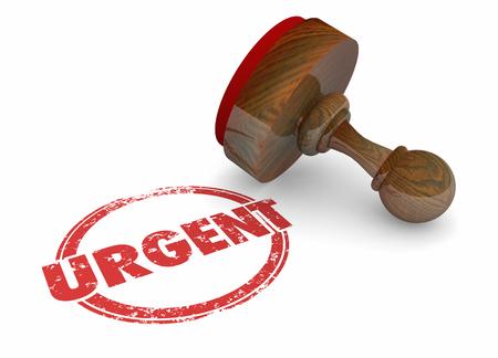 Urgent Act Now Important Reminder Word Stamp 3d Illustration