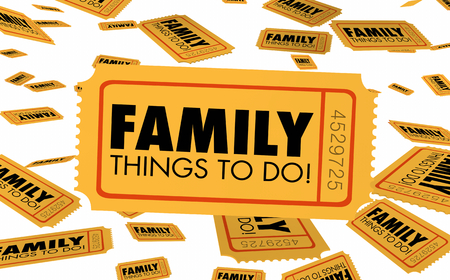 Family Things to Do Events Places Attractions Ticket 3d Illustration