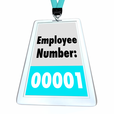 Employee Number One First Worker Hired Badge 3d Illustration Archivio Fotografico - 105717176